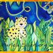 art, Mariela Silberberg, cat, paintings, art, leopard, canvas, oil, acrylics