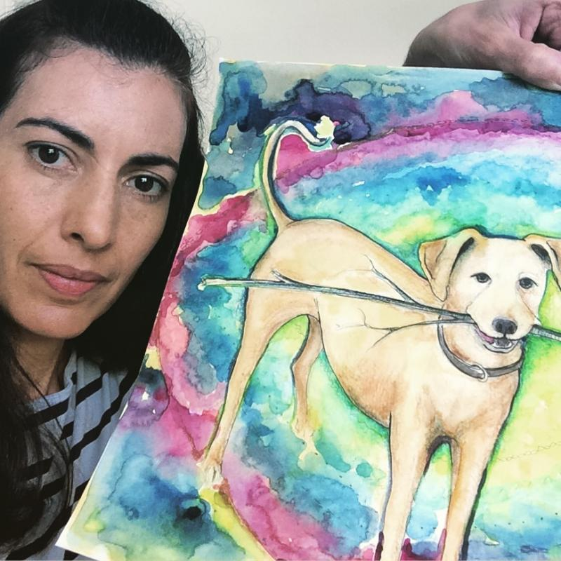 mariela silberberg, artist, paintings, argentina, cats, dogs