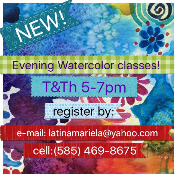 watercolor classes, Mariela, art, Shaker Heights